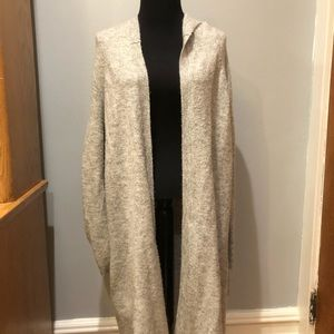 Juicy Couture Grey Long Sweater Coat Cardigan. Me
